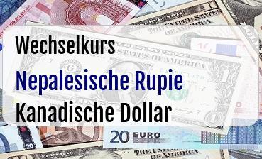 Nepalesische Rupie in Kanadische Dollar