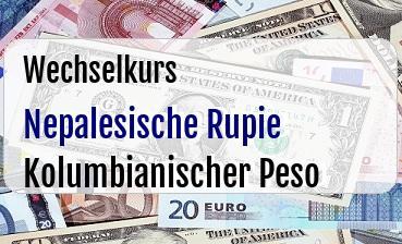 Nepalesische Rupie in Kolumbianischer Peso