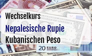 Nepalesische Rupie in Kubanischen Peso