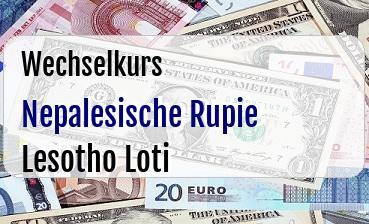 Nepalesische Rupie in Lesotho Loti