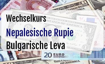 Nepalesische Rupie in Bulgarische Leva