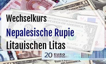 Nepalesische Rupie in Litauischen Litas