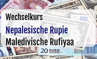 Nepalesische Rupie in Maledivische Rufiyaa