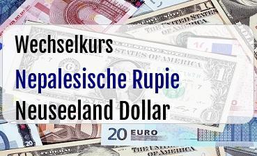 Nepalesische Rupie in Neuseeland Dollar