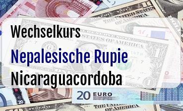 Nepalesische Rupie in Nicaraguacordoba