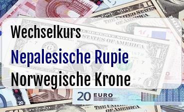Nepalesische Rupie in Norwegische Krone