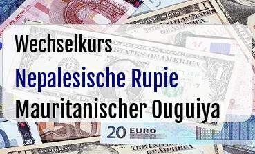 Nepalesische Rupie in Mauritanischer Ouguiya