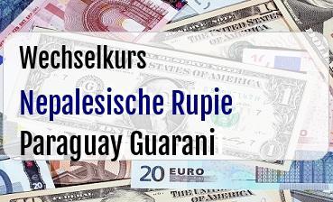 Nepalesische Rupie in Paraguay Guarani