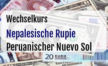Nepalesische Rupie in Peruanischer Nuevo Sol