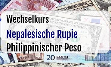 Nepalesische Rupie in Philippinischer Peso