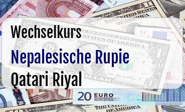Nepalesische Rupie in Qatari Riyal