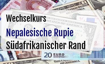 Nepalesische Rupie in Südafrikanischer Rand