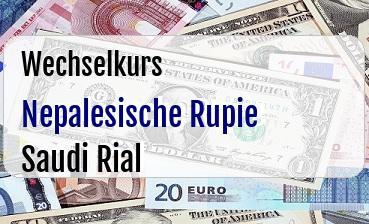 Nepalesische Rupie in Saudi Rial