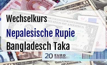 Nepalesische Rupie in Bangladesch Taka