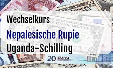 Nepalesische Rupie in Uganda-Schilling