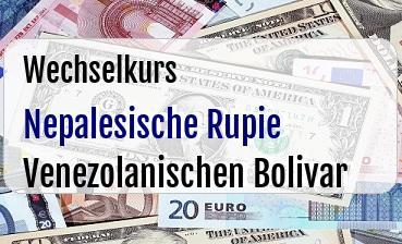 Nepalesische Rupie in Venezolanischen Bolivar