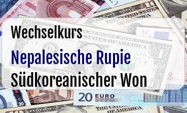 Nepalesische Rupie in Südkoreanischer Won