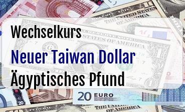 Neuer Taiwan Dollar in Ägyptisches Pfund