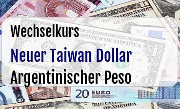 Neuer Taiwan Dollar in Argentinischer Peso