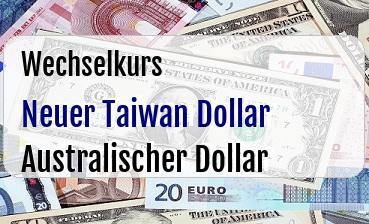 Neuer Taiwan Dollar in Australischer Dollar