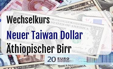 Neuer Taiwan Dollar in Äthiopischer Birr