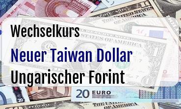 Neuer Taiwan Dollar in Ungarischer Forint