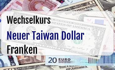 Neuer Taiwan Dollar in Schweizer Franken