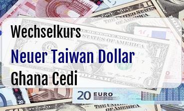 Neuer Taiwan Dollar in Ghana Cedi