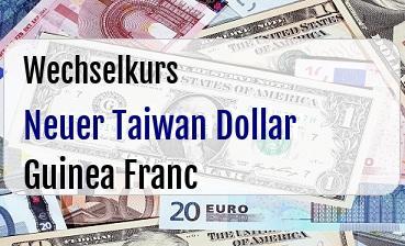 Neuer Taiwan Dollar in Guinea Franc