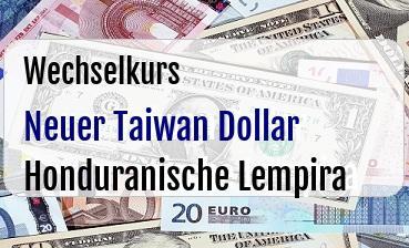 Neuer Taiwan Dollar in Honduranische Lempira