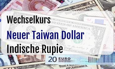 Neuer Taiwan Dollar in Indische Rupie
