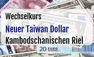 Neuer Taiwan Dollar in Kambodschanischen Riel
