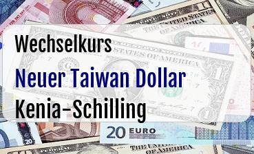 Neuer Taiwan Dollar in Kenia-Schilling