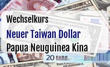 Neuer Taiwan Dollar in Papua Neuguinea Kina