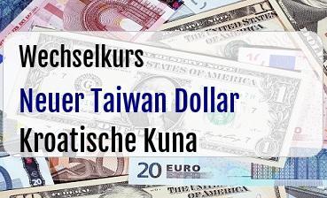 Neuer Taiwan Dollar in Kroatische Kuna