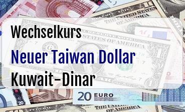 Neuer Taiwan Dollar in Kuwait-Dinar