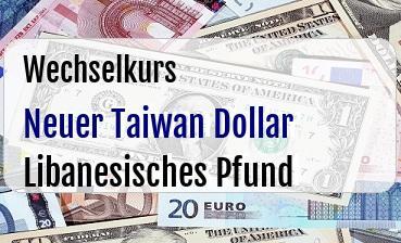 Neuer Taiwan Dollar in Libanesisches Pfund