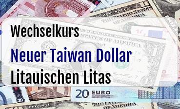 Neuer Taiwan Dollar in Litauischen Litas