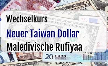 Neuer Taiwan Dollar in Maledivische Rufiyaa