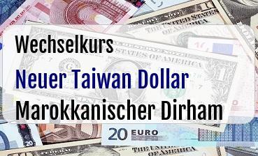 Neuer Taiwan Dollar in Marokkanischer Dirham