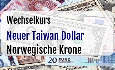 Neuer Taiwan Dollar in Norwegische Krone