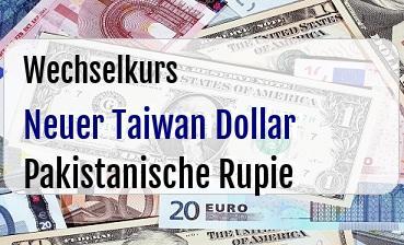 Neuer Taiwan Dollar in Pakistanische Rupie