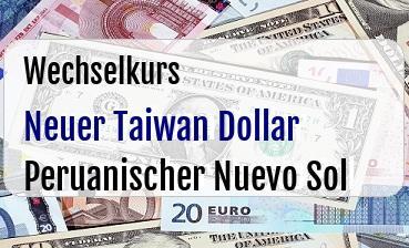 Neuer Taiwan Dollar in Peruanischer Nuevo Sol