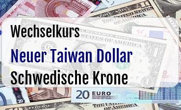 Neuer Taiwan Dollar in Schwedische Krone