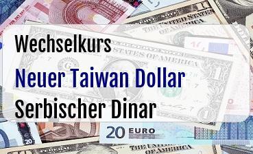Neuer Taiwan Dollar in Serbischer Dinar