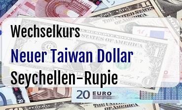 Neuer Taiwan Dollar in Seychellen-Rupie