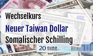 Neuer Taiwan Dollar in Somalischer Schilling