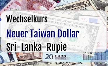 Neuer Taiwan Dollar in Sri-Lanka-Rupie