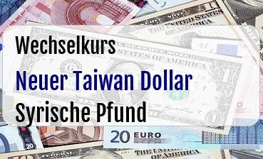 Neuer Taiwan Dollar in Syrische Pfund