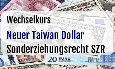 Neuer Taiwan Dollar in Sonderziehungsrecht SZR
